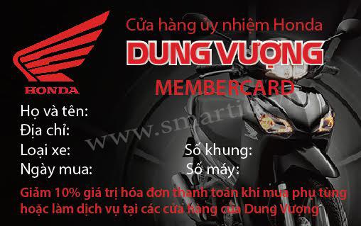 Rầm rộ chiến dịch thẻ thành viên tại nhiều cửa hàng Honda trong cả nước