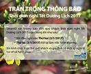 Lịch nghỉ tết Đinh Dậu và chúc mừng năm mới 2017
