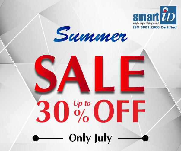 """Summer Sale – Giải pháp in thẻ & mã vạch ưu đãi cực """"nóng"""" hè 2018"""