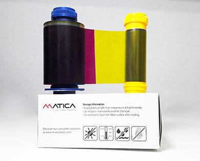 Ribbon mực in thẻ 5 dải màu YMCKO Matica PR000031