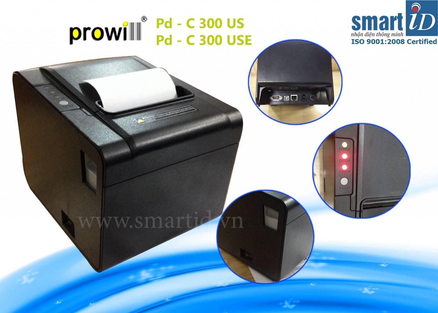 Máy in hóa đơn nhiệt Pd-C300US/USE