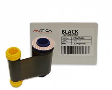 Ribbon mực in thẻ đơn sắc Đen Matica PR000034
