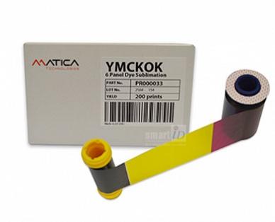Ribbon mực in thẻ YMCKOK Matica Espresso - PR000033