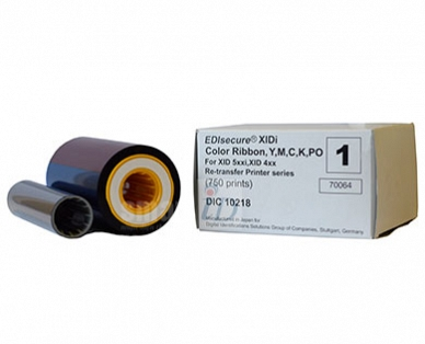 Ribbon mực in thẻ màu Matica XID YMCK-PO - DIC10218