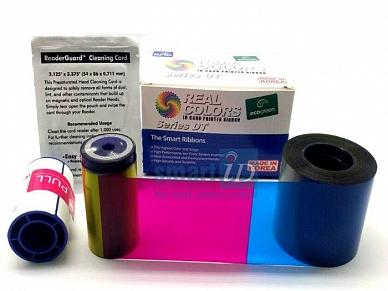 Ruy băng (Ribbon) mực 4 dải Màu - YCMKT máy in thẻ Datacard SD/SP series (534000-003, 552854-504)